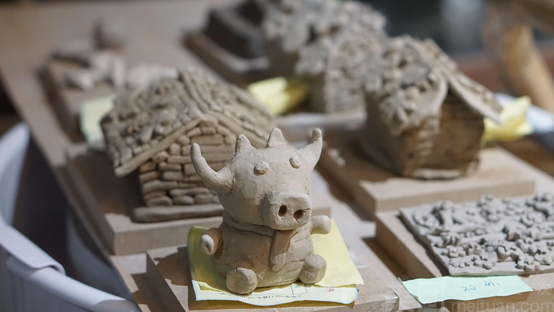 份,可手工捏塑各种动物,小房子,汽车,微景观,场景等陶艺泥塑摆件,含