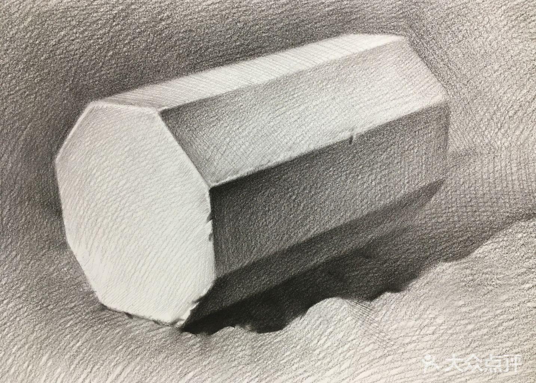 运用一点透视(平行透视)画出不同角度的正方体,讲解明暗关系,  五大