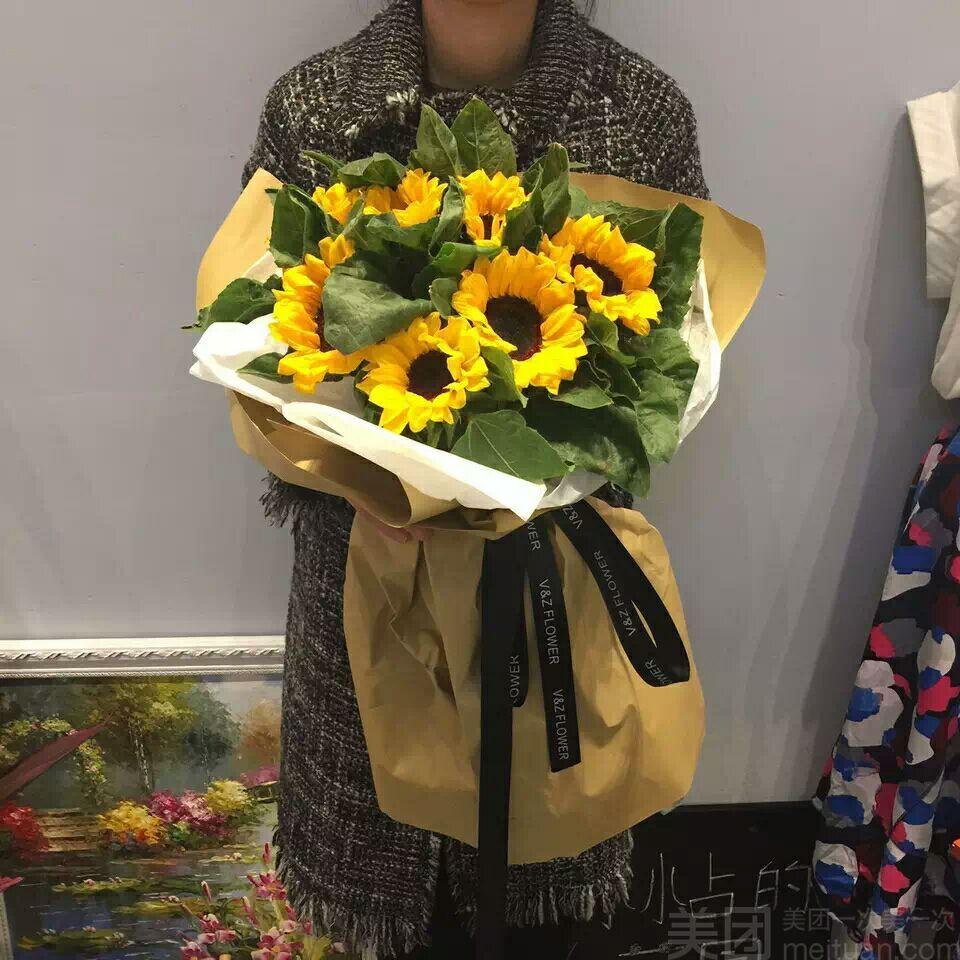 亚梅鲜花店怎么样_团购亚梅鲜花店-向日葵欧式花束
