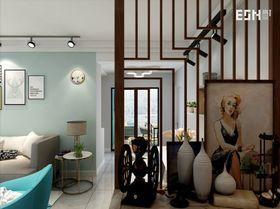 100平米三室两厅现代简约风格玄关效果图