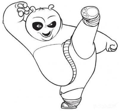 圆形熊猫简笔画
