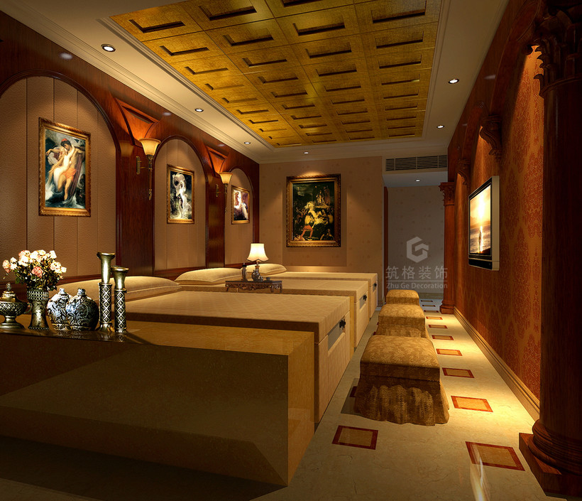 一,       贵阳足浴店装修设计风格之欧式古典风格