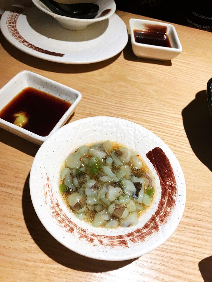 芥末小章鱼我是恨不得都蘸芥末吃的人,生芥末伴着牛肉简直就自制做法酱辣椒的章鱼图片
