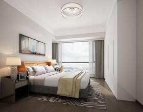 10-15萬70平米現代簡約風格臥室圖