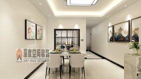 經濟型90平米三室兩廳現代簡約風格餐廳設計圖