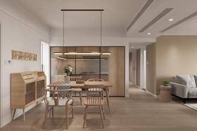 富裕型100平米三室兩廳日式風格餐廳裝修案例