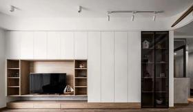 富裕型100平米三室一廳現代簡約風格客廳裝修效果圖