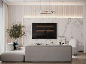 20萬以上140平米四室兩廳現代簡約風格客廳欣賞圖