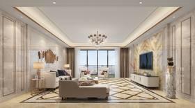 20萬以上140平米四現代簡約風格客廳欣賞圖