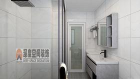 5-10萬90平米三室兩廳現代簡約風格衛生間欣賞圖