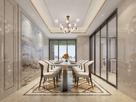 豪華型140平米四現代簡約風格餐廳欣賞圖