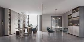 10-15萬100平米三現代簡約風格餐廳裝修效果圖