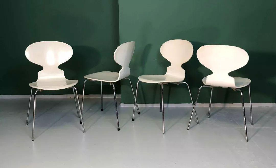 03 7号椅 7号椅的出生比蚁椅晚了5年,同样来自雅各布森,极简的造型