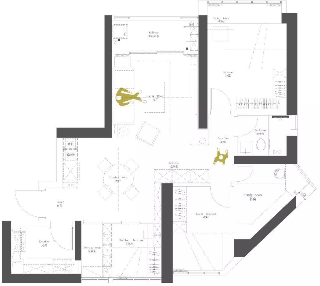 93m²清、素、雅日式四居,完美演绎一家五口的幸福生活