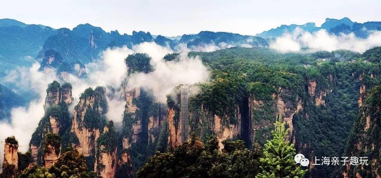 垂直于悬崖峭壁之上的百龙天梯是在武陵源景区内的独有体验。垂直落差在335米,目前以最高户外电梯被载入吉尼斯世界纪录。从山底到山顶仅需1分58秒,从张家界国家森林公园入口处乘坐,可到达袁家界、金鞭溪、天下第一桥、迷魂台景点。