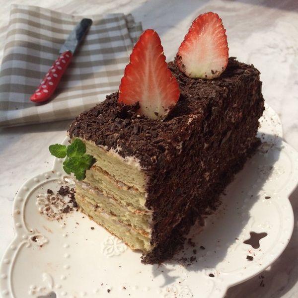 美食diy:覆盆子草莓黑森林图片