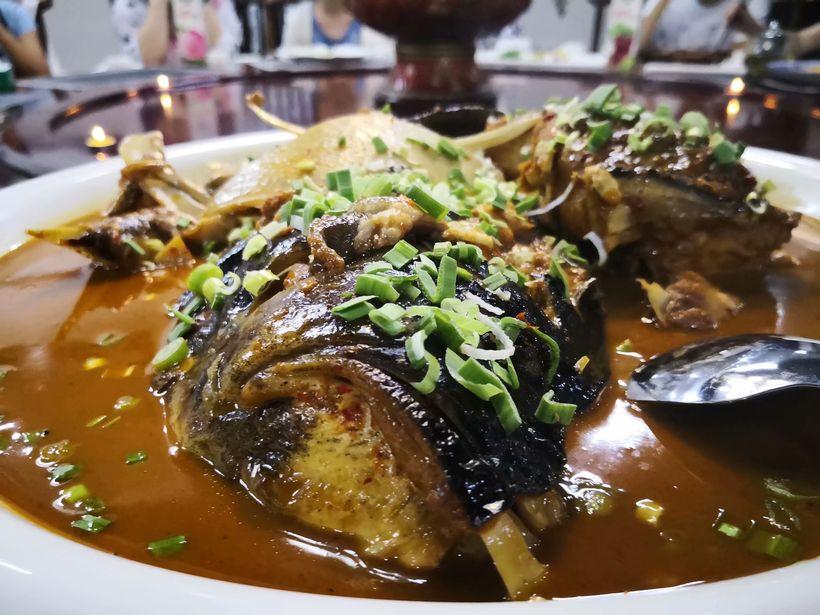 你吃过吗--- 喝泉水长大的野生千岛湖十年鱼头王