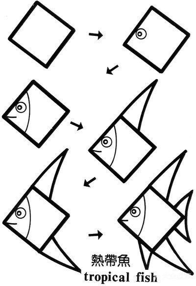 关于正方形的简笔画,考验你的想象力!