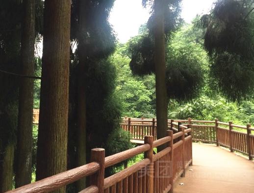 景点介绍 峨眉山七里坪森林栈道景区 七里坪于万亩千年冷杉林中,建造