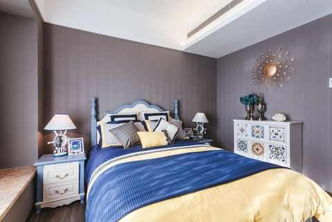 【房源介绍】 - 蓝色欧式复古风客厅,木质的椅子和慵懒皇室沙发,搭配