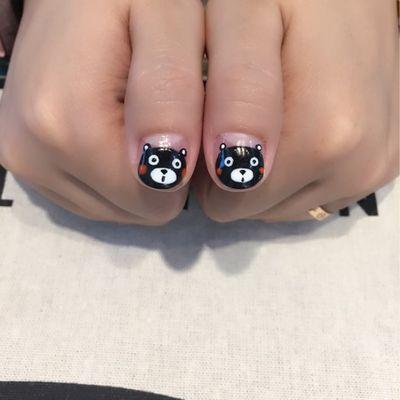 可爱熊本熊美甲款式图
