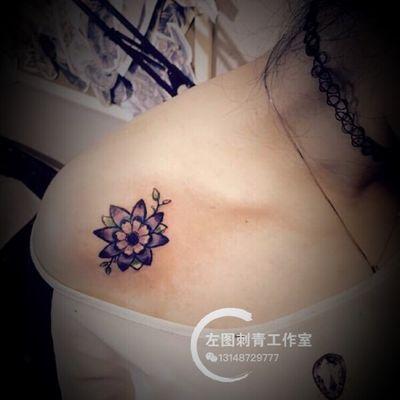 小花纹身图
