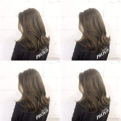 丽人 美发图库 亚麻闷青效果图  9244 潮流染发 女 长发