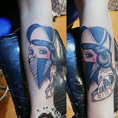 v少女少女纹身款式图脸女生手机挡图片