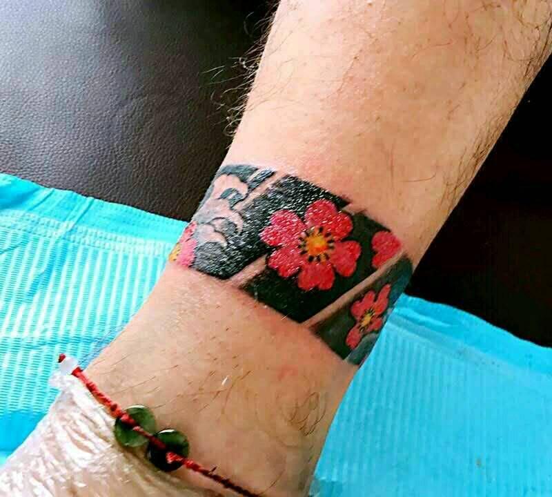 脚环纹身款式图图片