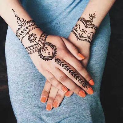 海娜手绘纹身款式图