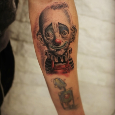 小丑纹身款式图