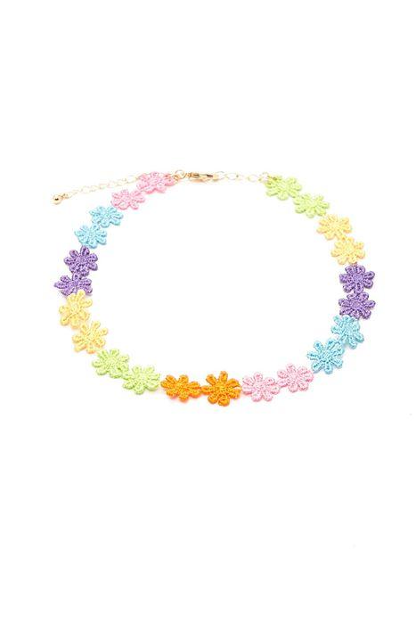 forever 21 钩针花朵造型项圈项链