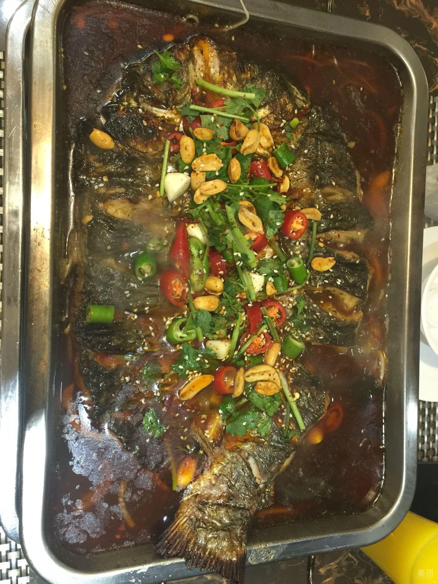 木炭烤鱼火锅