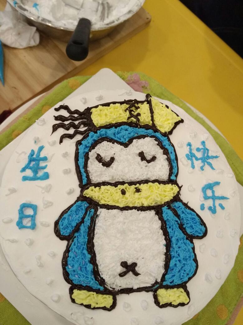 6寸diy手绘蛋糕