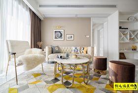 80平米欧式风格客厅装修效果图
