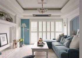 富裕型110平米三室两厅美式风格客厅装修效果图