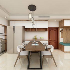 110平米三室一厅中式风格餐厅图