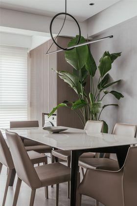 140平米四室一廳現代簡約風格餐廳圖