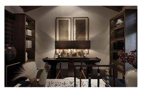 富裕型110平米三室两厅中式风格书房装修案例