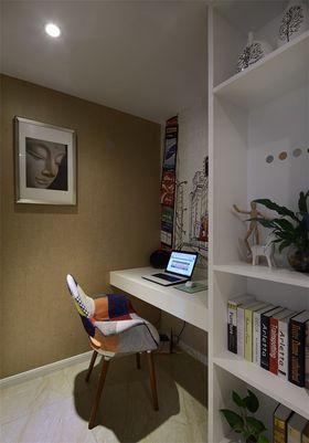 5-10万90平米三室两厅混搭风格书房装修案例