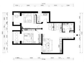 80平米现代简约风格其他区域图