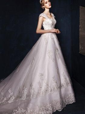 优雅公主婚纱