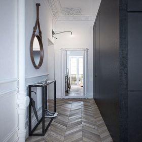 40平米小户型中式风格走廊装修效果图