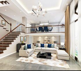 140平米別墅現代簡約風格客廳背景墻設計圖