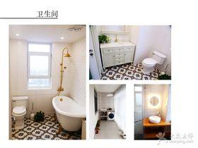 富裕型140平米三室两厅混搭风格卫生间效果图