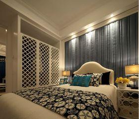 富裕型110平米三室两厅地中海风格卧室图片