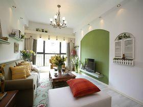 80平米三室一厅美式风格客厅效果图