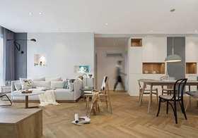 110平米现代简约风格客厅欣赏图