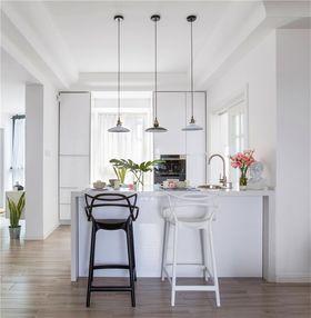 90平米三室两厅现代简约风格餐厅图片大全