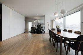 140平米三室三厅现代简约风格餐厅图片